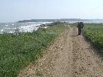 Впереди - коса между Керченским проливом и оз.Тобечикское